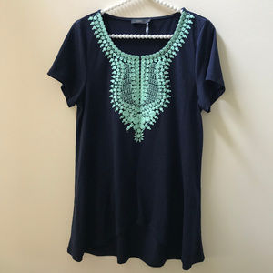 THML Embroidered Neck Short Sleeve Tee